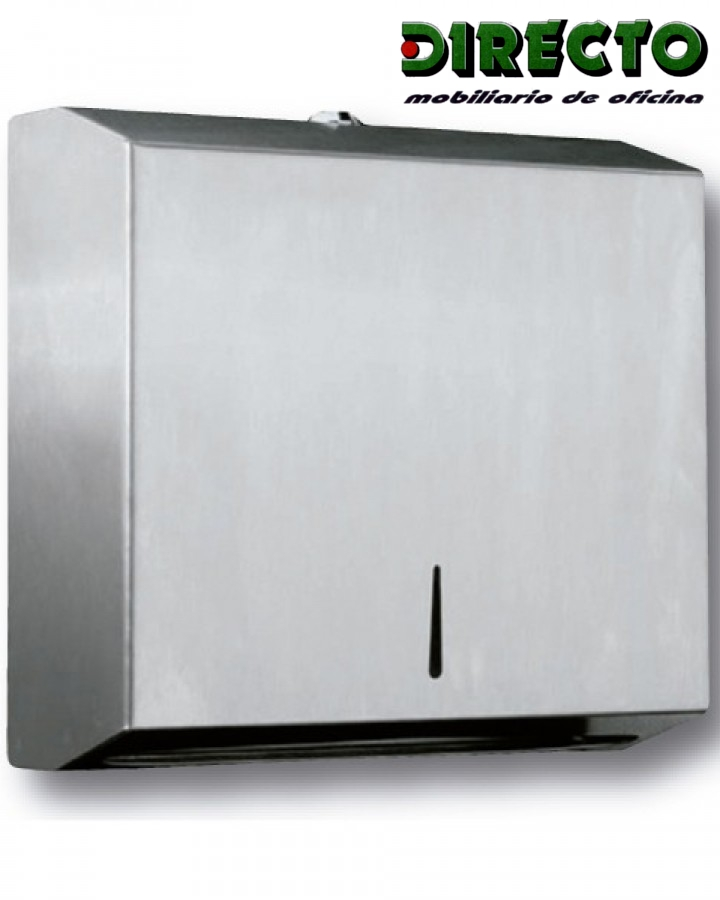 Dispensador de papel 1 en acero inox.