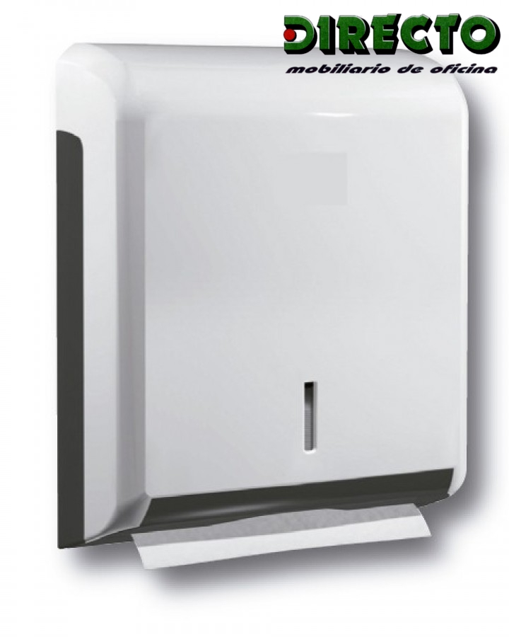 Dispensador de papel 3 en ABS blanco.